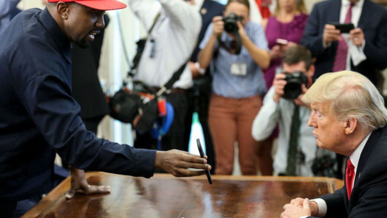 Kanye West had a lot to say at the White House