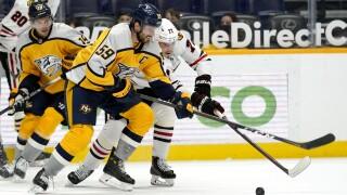 Blackhawks Predators Hockey