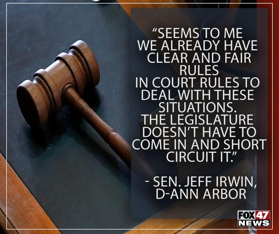 Concerns by Democratic State Senator Jeff Irwin