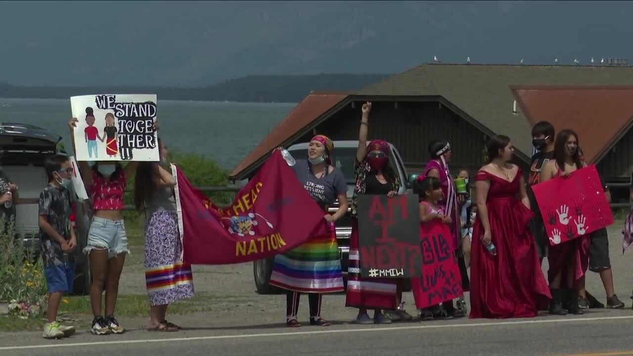 Marchers hit Polson streets on July 4th