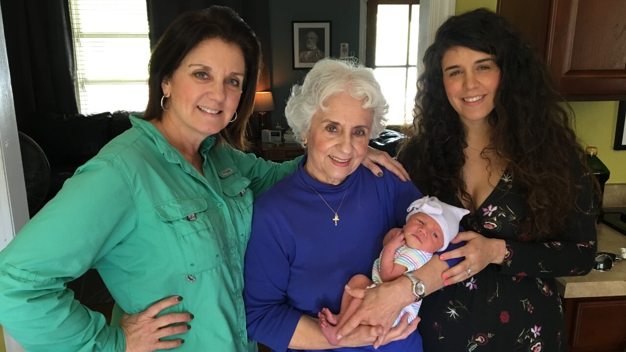 Michalle Gilbert 4 generations.png