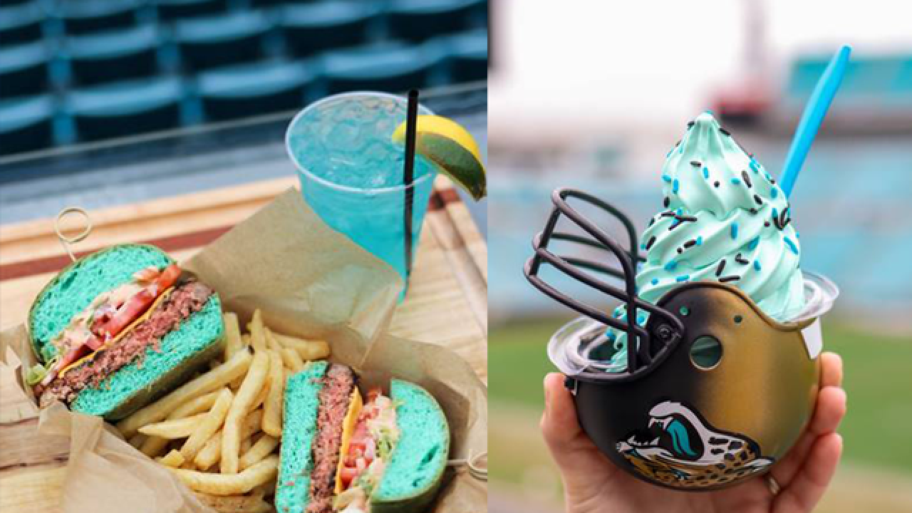 Jacksonville Jaguars to sell teal burgers, ice cream and beer at Sunday's game against Bills