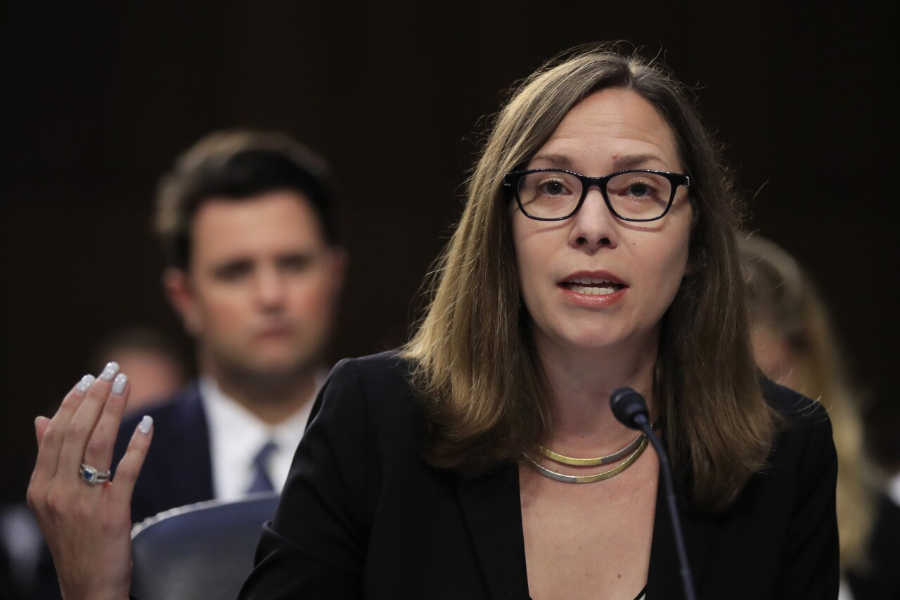 Laura Rosenberger testifies at Senate Intelligence Committee hearing in 2018