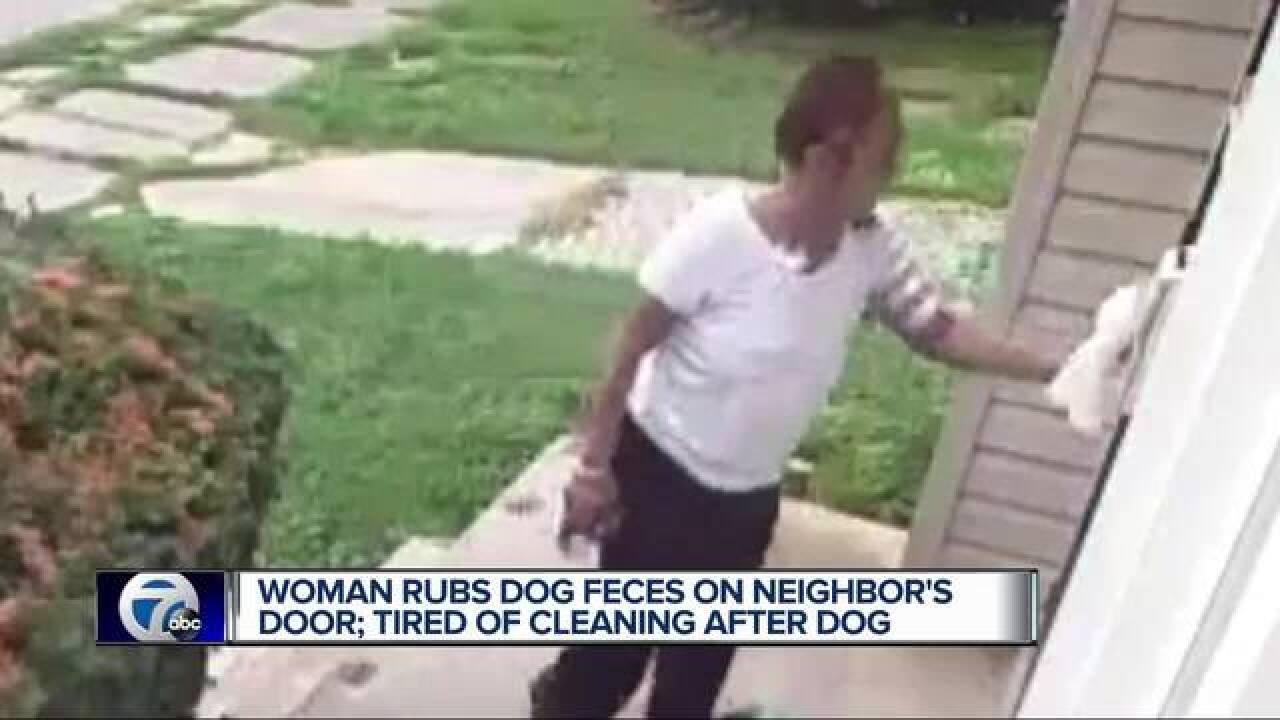 Detroit woman rubs dog feces on neighbor's door as retaliation