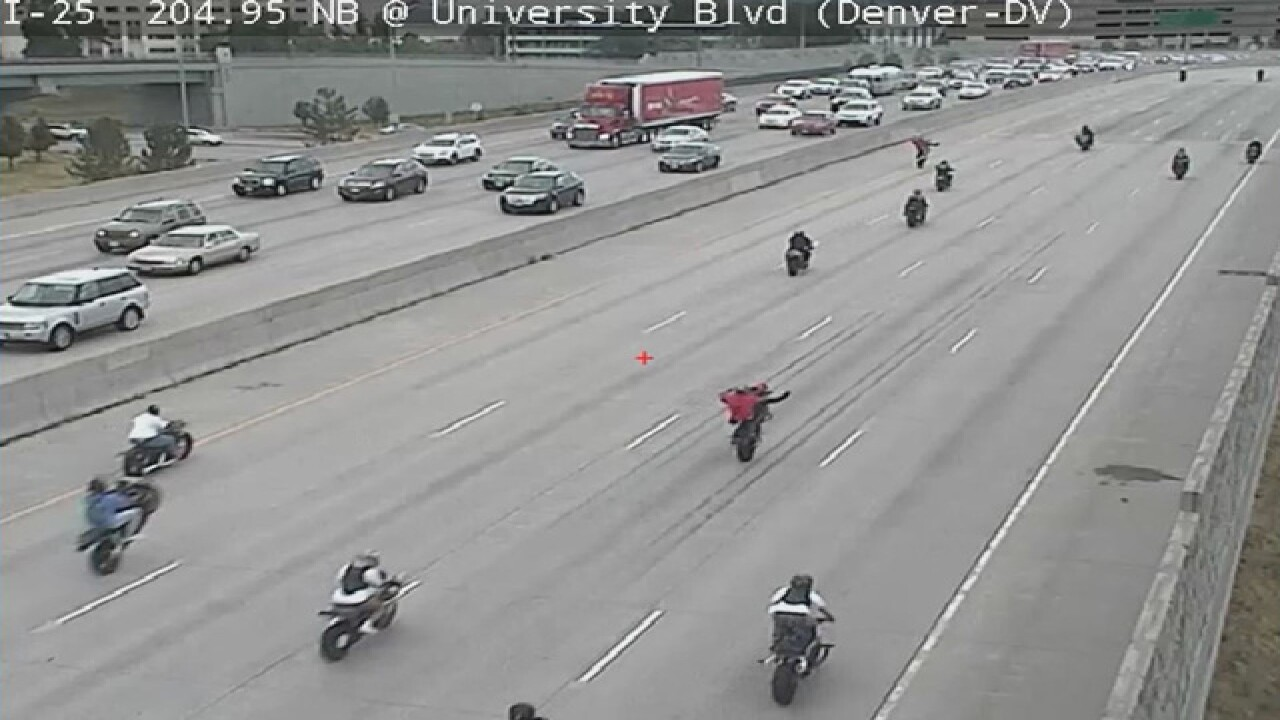 'Kill Da Streetz': Bikers flood Denver roadways