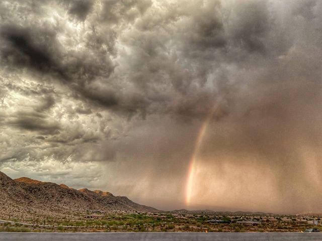 Rainbow Monsoon Clouds