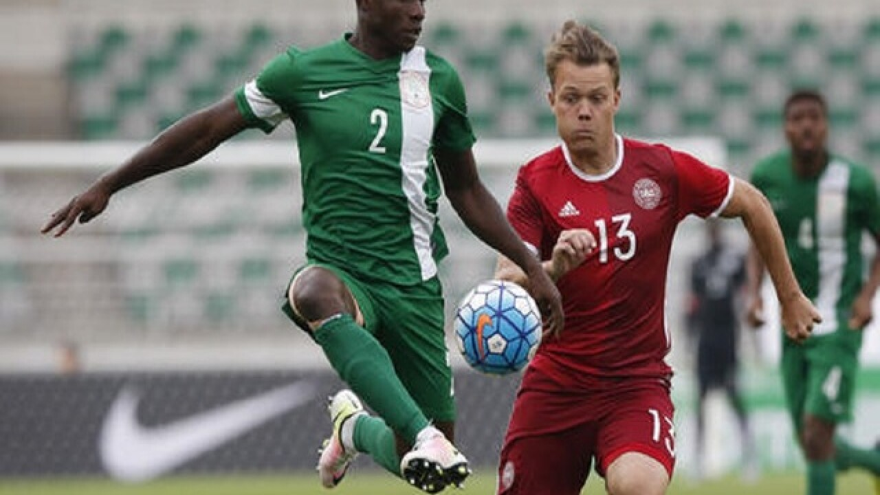 From plane to pitch, Nigeria soccer team wins Olympic opener