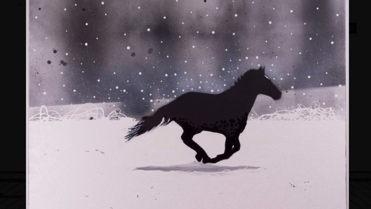 """""""A Horse Named Paint"""" by Billings artist Judd Thompson"""