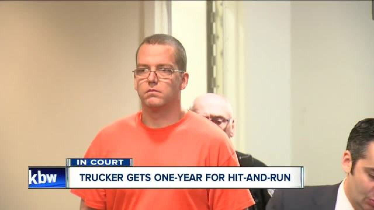 Trucker sentenced to one-year for hit-and-run