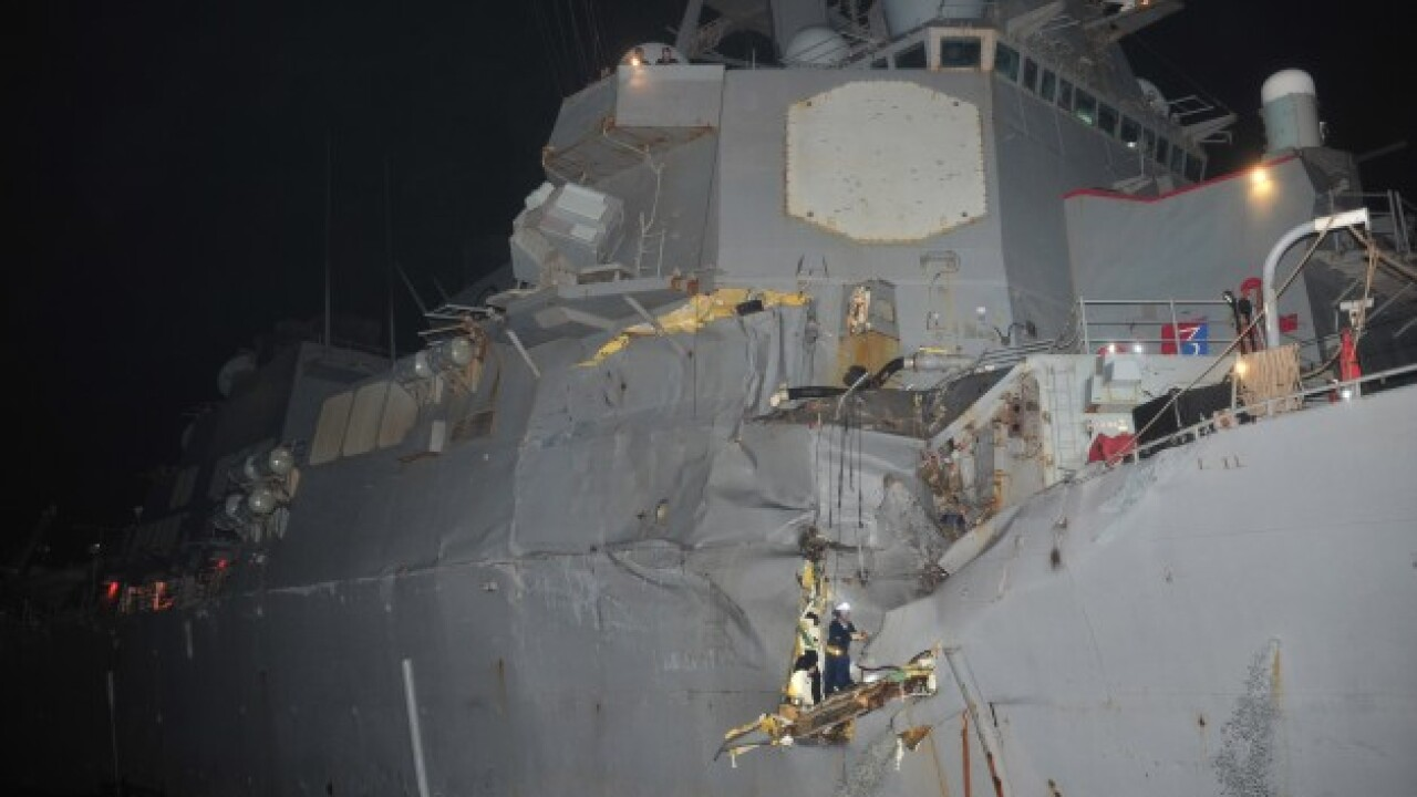 Pics: No sailors injured after USS Porter collides with oil tanker