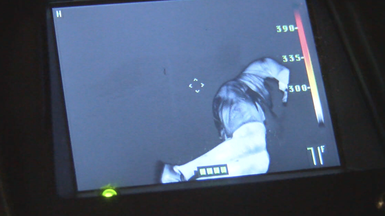 KNXV Firefighter thermal imaging camera