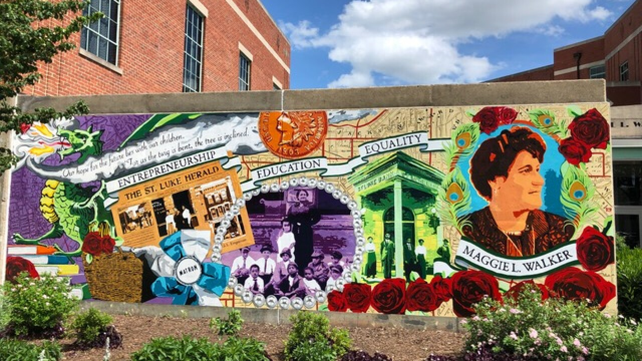 Collaborative Maggie Walker mural brings 'pride' for community