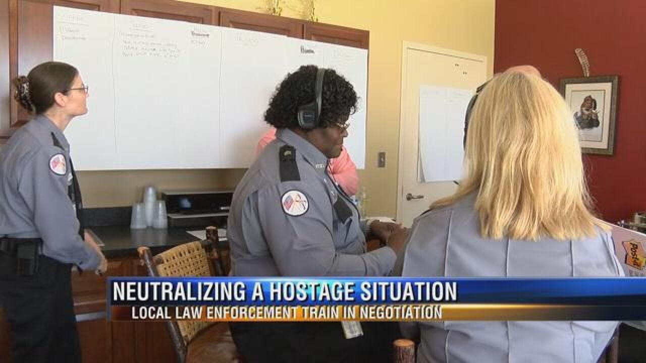 Hostage Negotiators Go Through Special Training Simulation