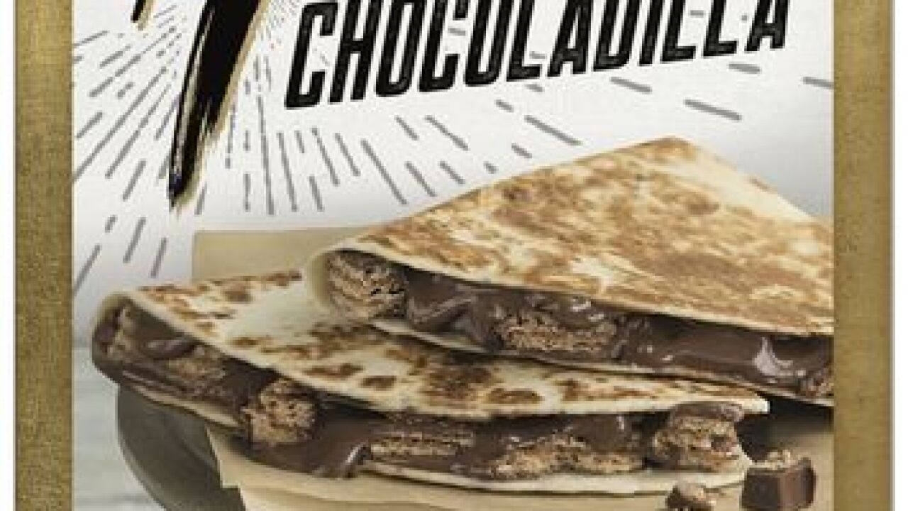 Taco Bell's quesadilla filled with Kit Kat bars