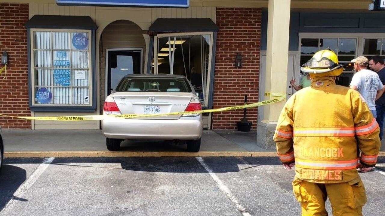 Officials respond after vehicle crashes into Accomack County building
