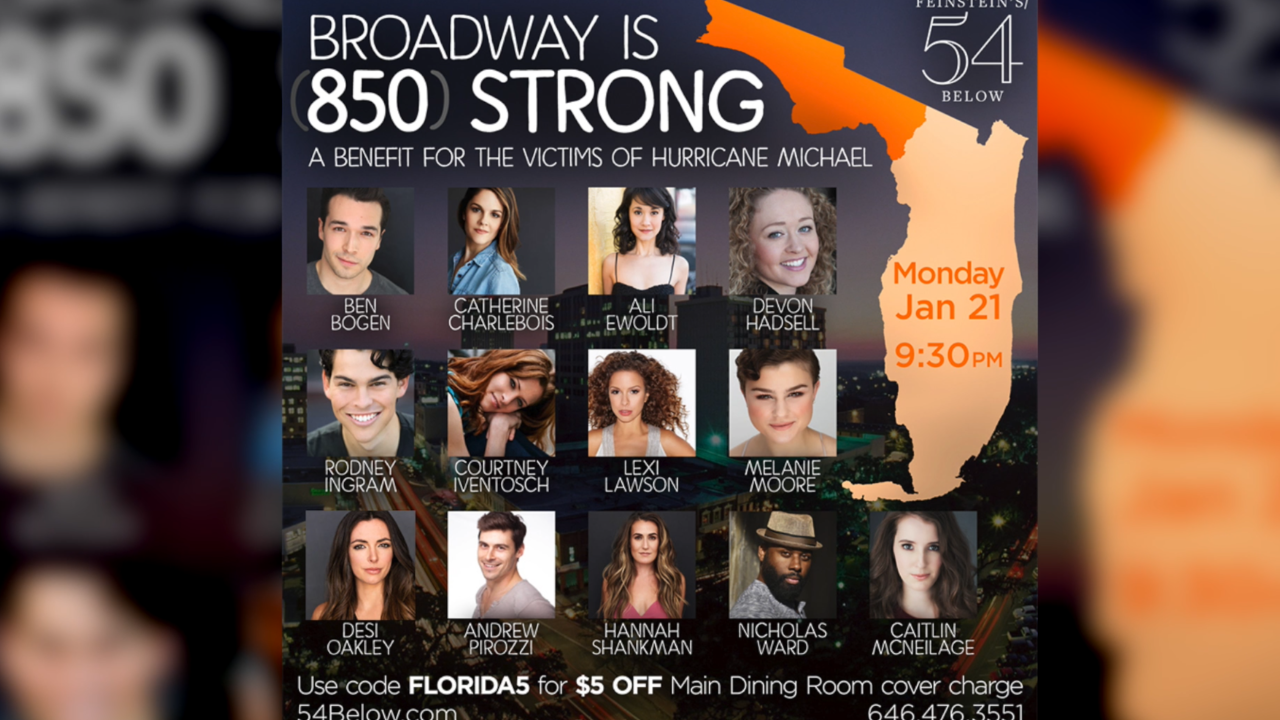 NYC actress hosts Broadway event to raise money for Hurricane Michael victims