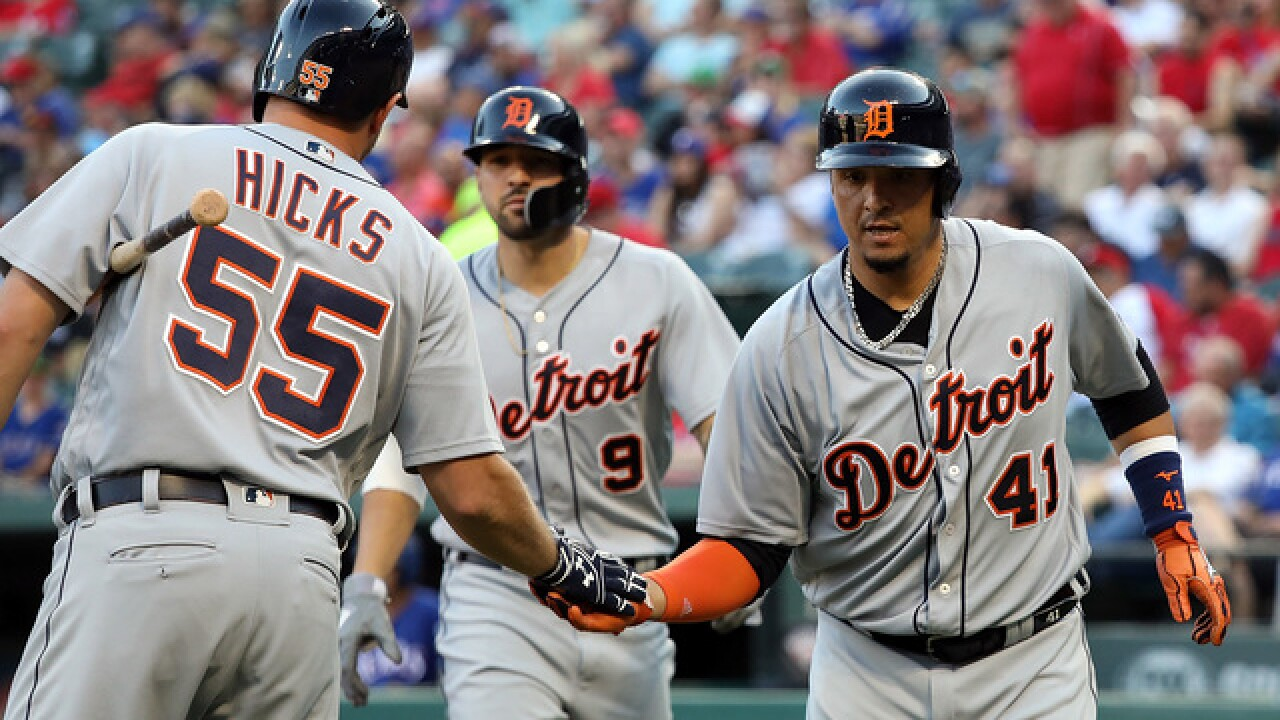 Tigers homer three times in win over Rangers