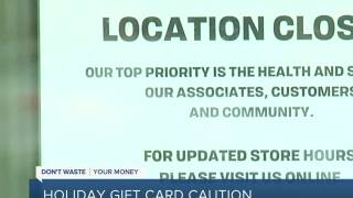 People urged to use holiday gift cards quickly as some businesses struggle during pandemic
