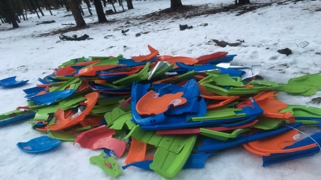 Snow-play areas have trash aplenty in Flagstaff