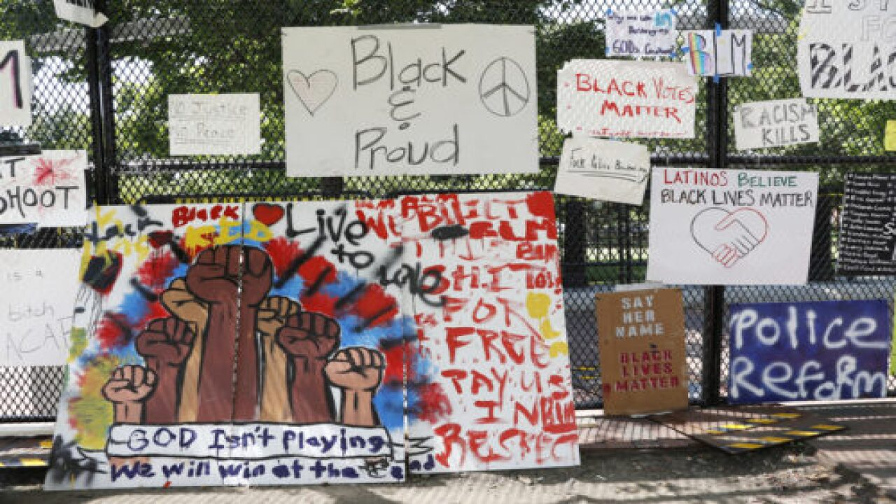 Protesters Have Transformed White House Fencing Into An Artistic Monument To Racial Justice