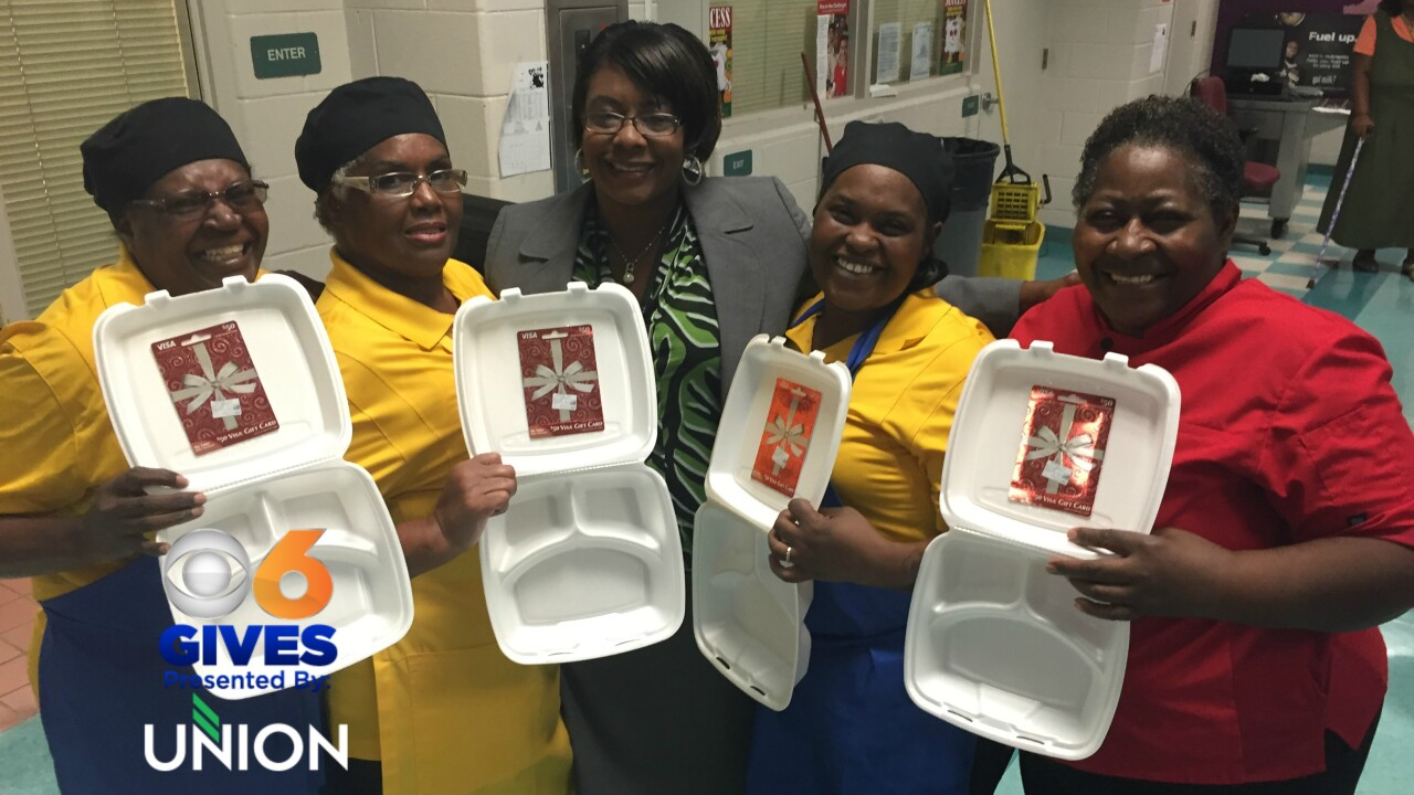 Devoted cafeteria workers surprised with gift disguised in foodtrays