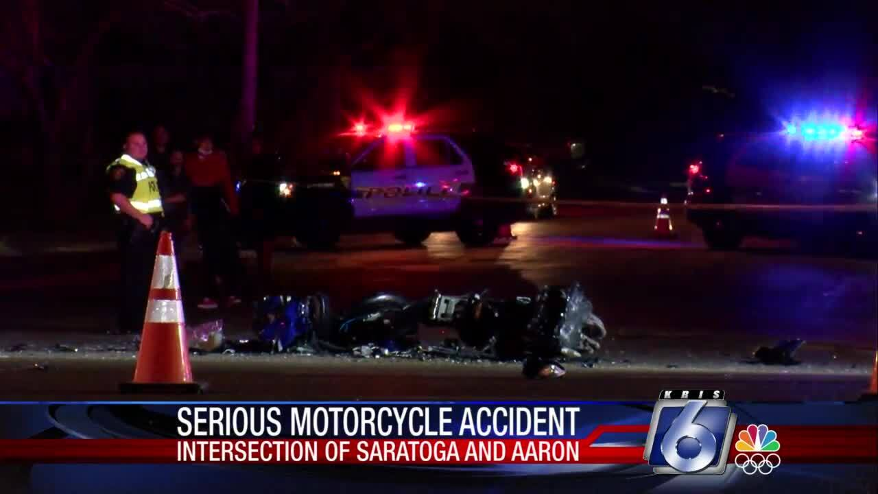 Motorcyclist injured