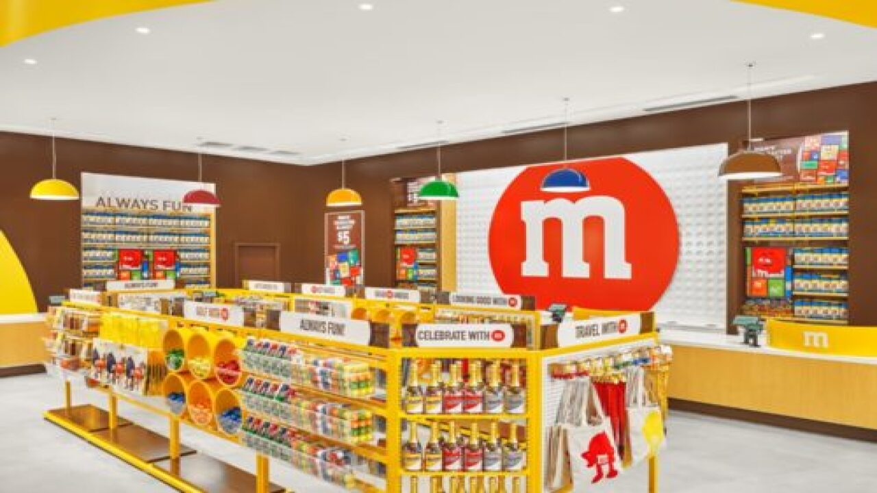 New M&M's Store Has A 17-Foot Wall Of Chocolate