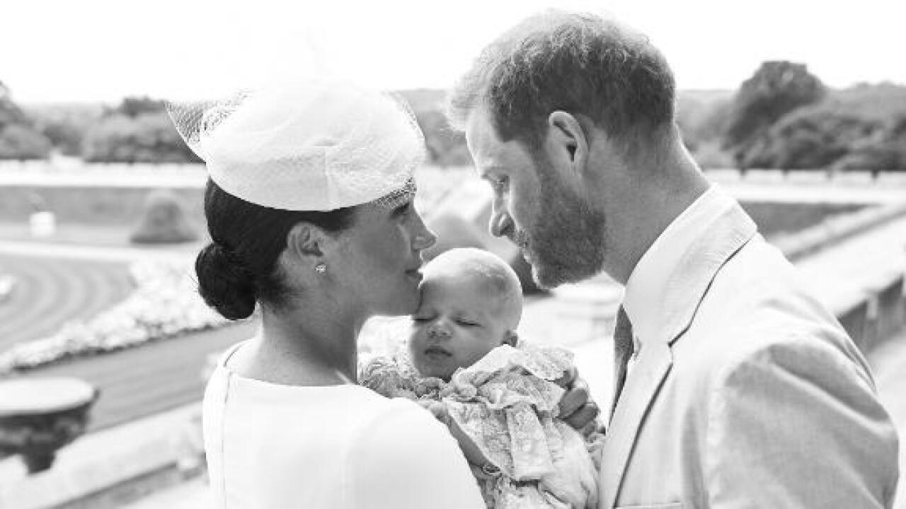 Meghan and Harry release baby Archie's christening photos