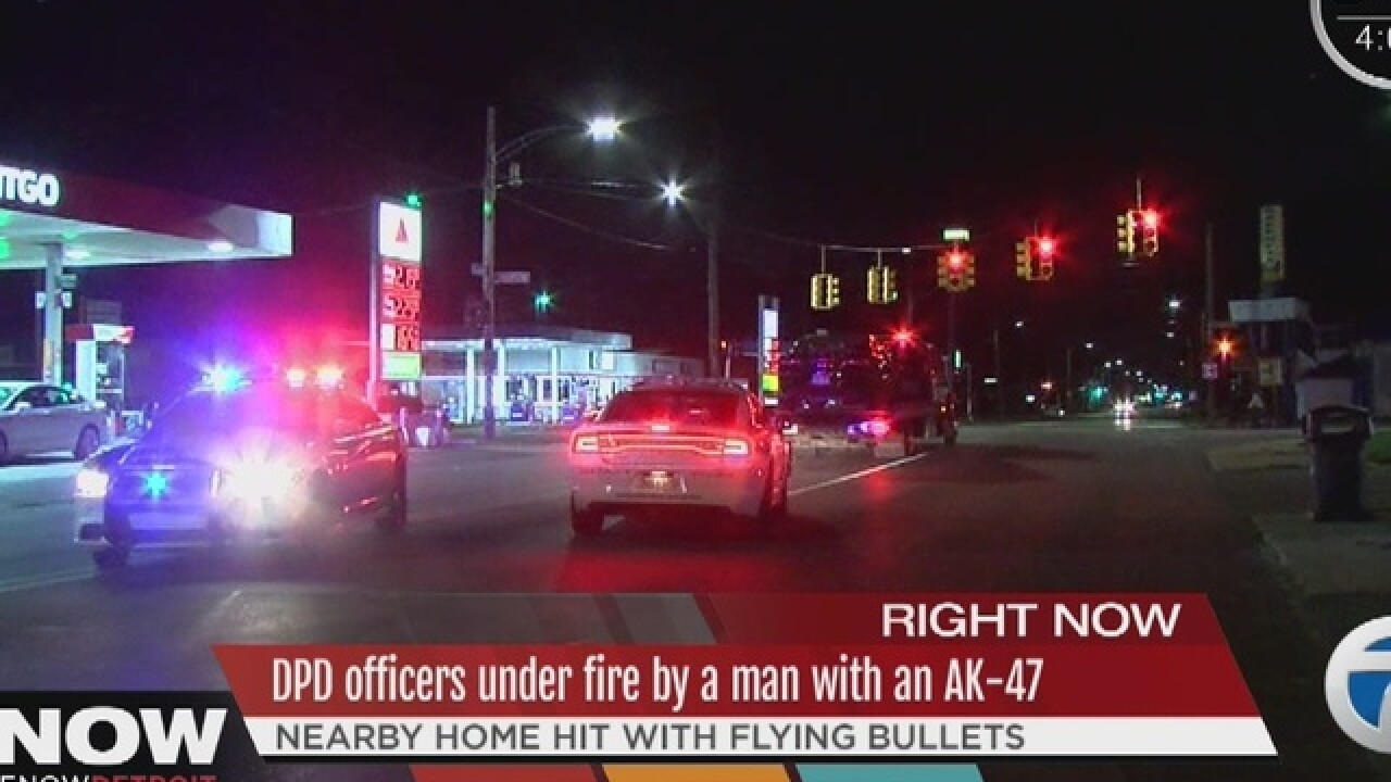 Police in a standoff on Detroit's west side