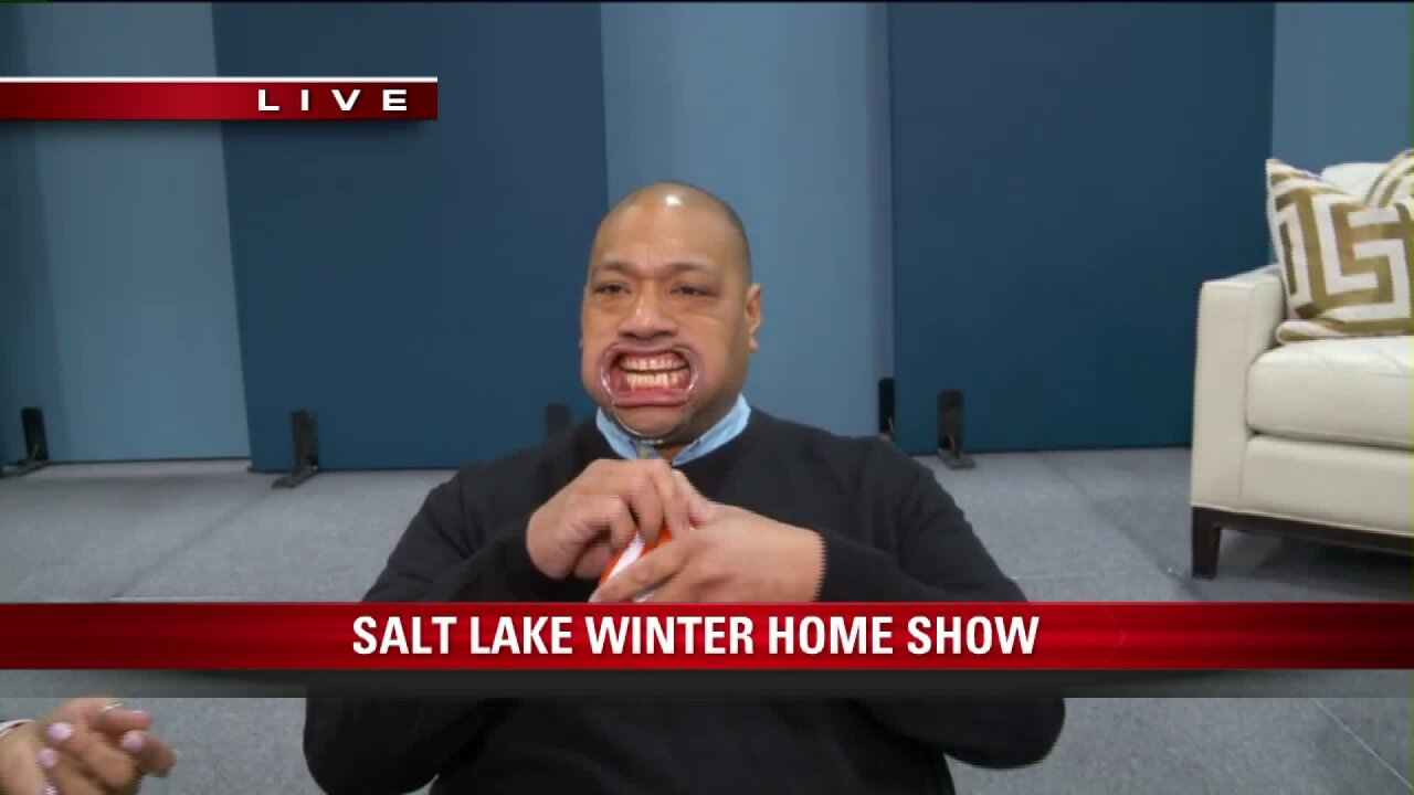 Big Budah was hard to understand at the Salt Lake Winter Home Show
