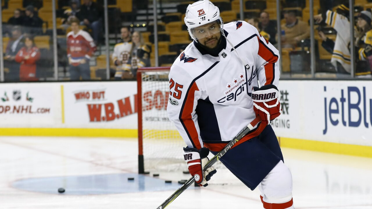 Fans kicked out of hockey game for shouting 'basketball' at black Washington Capitals player