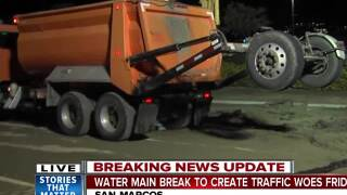 Water main break to create traffic woes Friday