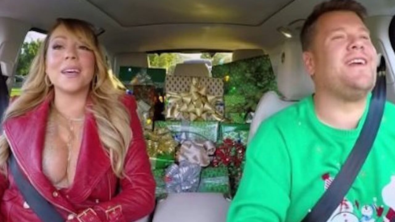 'Carpool Karaoke' recruits celebs for ode to Mariah Carey's 'All I Want for Christmas'