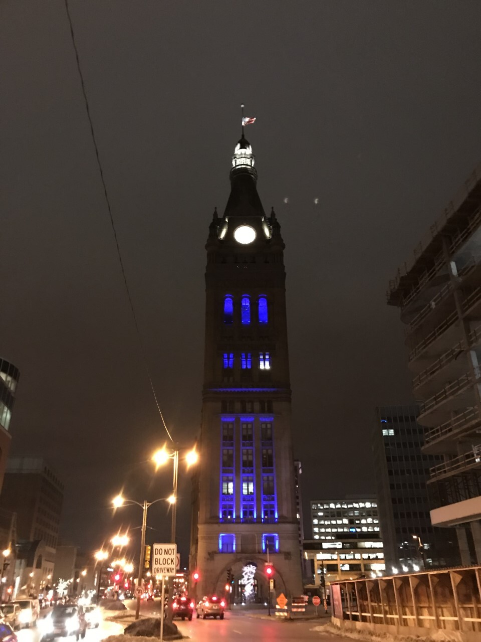 Milwaukee was lit up in blue across the city to honor Fallen Officer Matthew Rittner