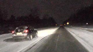 Dashcam shows road conditions 2/16/2021
