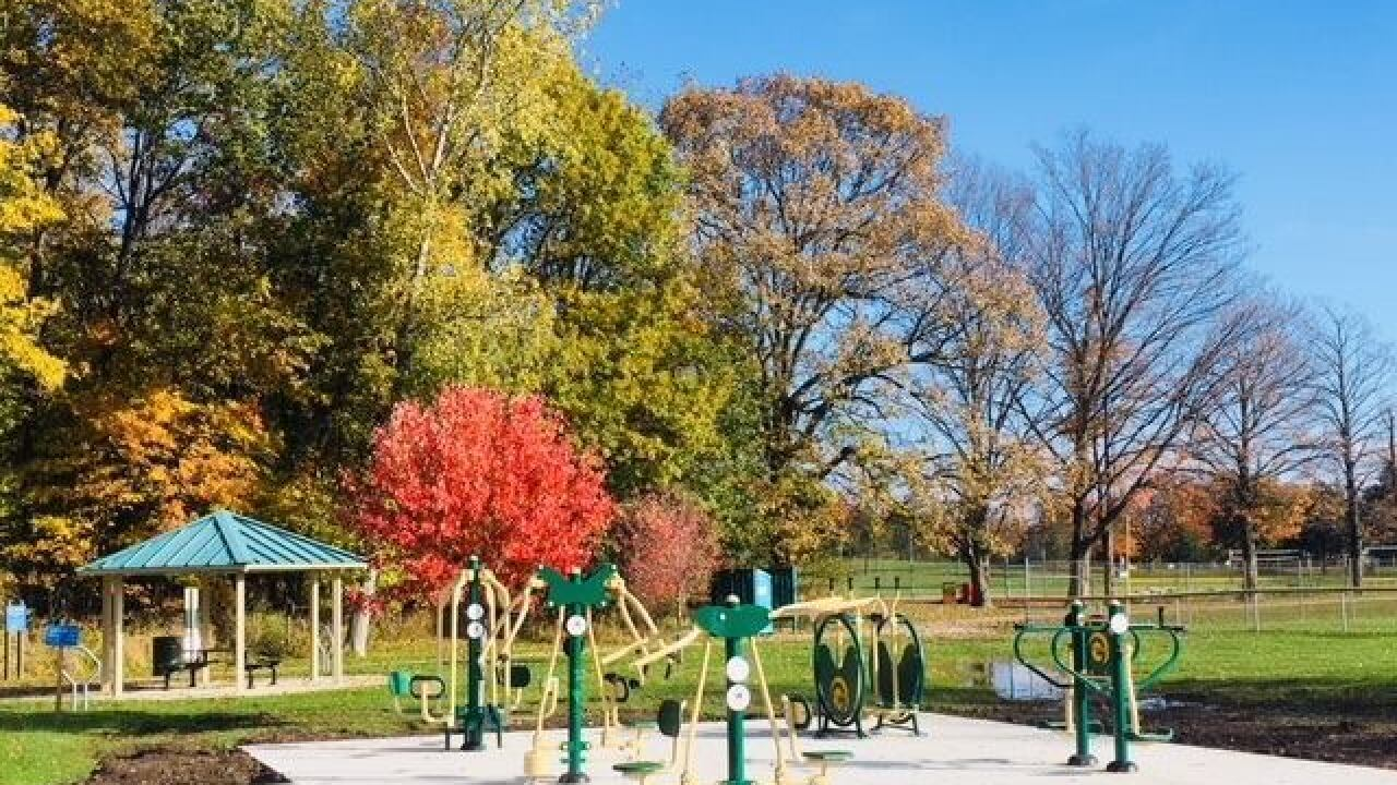 Outdoor Exercise Zone grand opening
