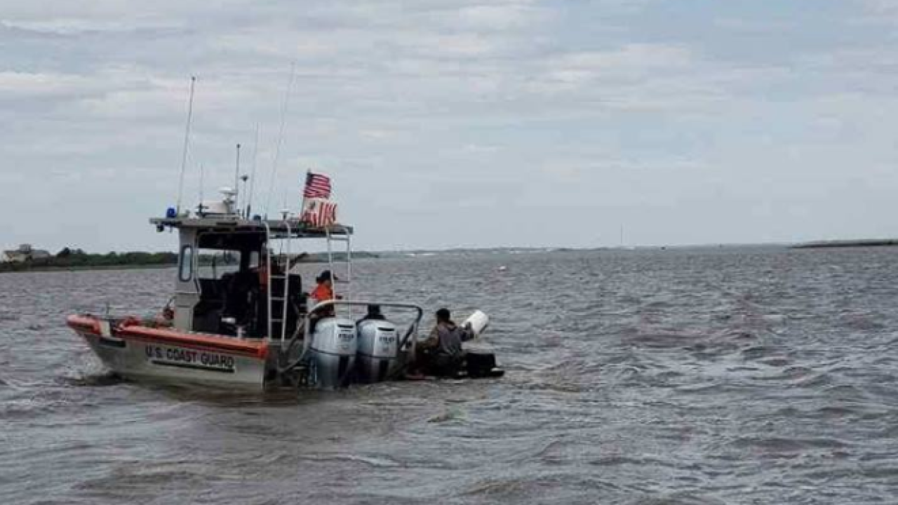 Coast Guard rescues boat taking on water while training at Oregon Inlet