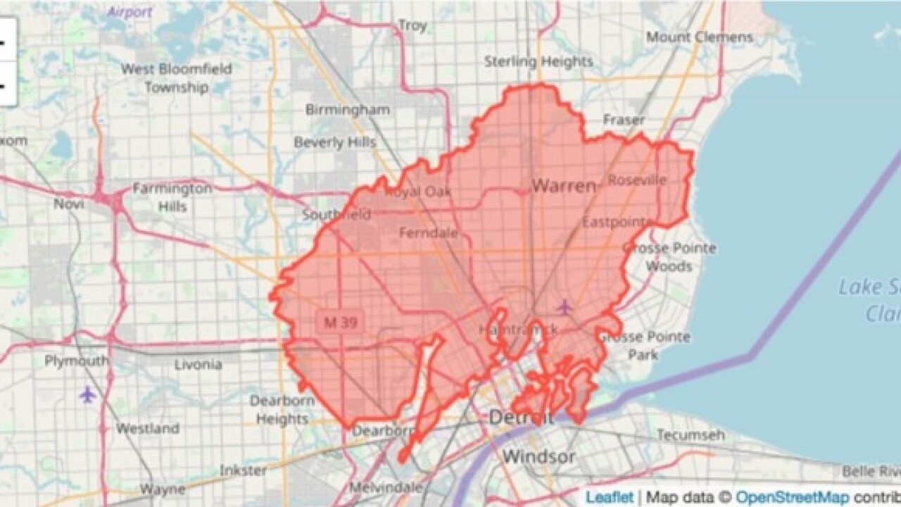 map of detroit metro area Interactive Map Shows Camp Fire Would Cover Half Of Metro Detroit map of detroit metro area