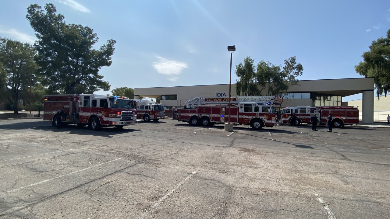 The Tucson Fire Department says one person died and another was seriously hurt after a wall collapsed inside a building on Tucson's south side on Tuesday, Sept. 22, 2020.