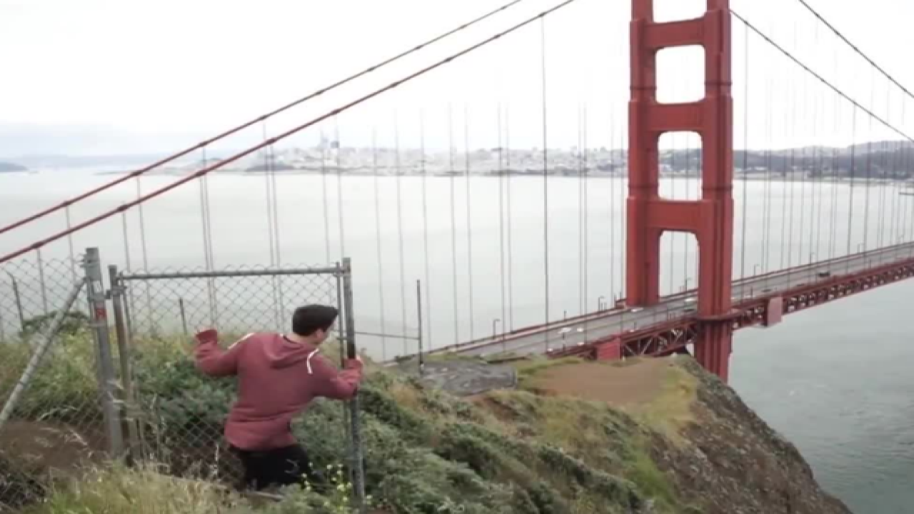 West Bend Men Illegally Climb Golden Gate Bridge