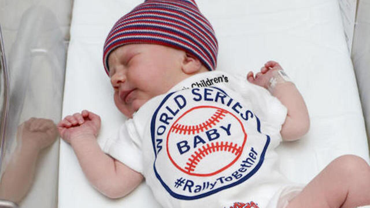 Cleveland Indians get boost from newborn babies in onesies