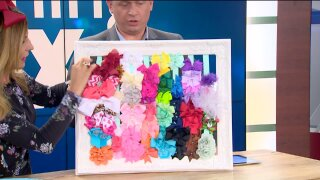 Organize your daughter's hair bows with this niftyframe