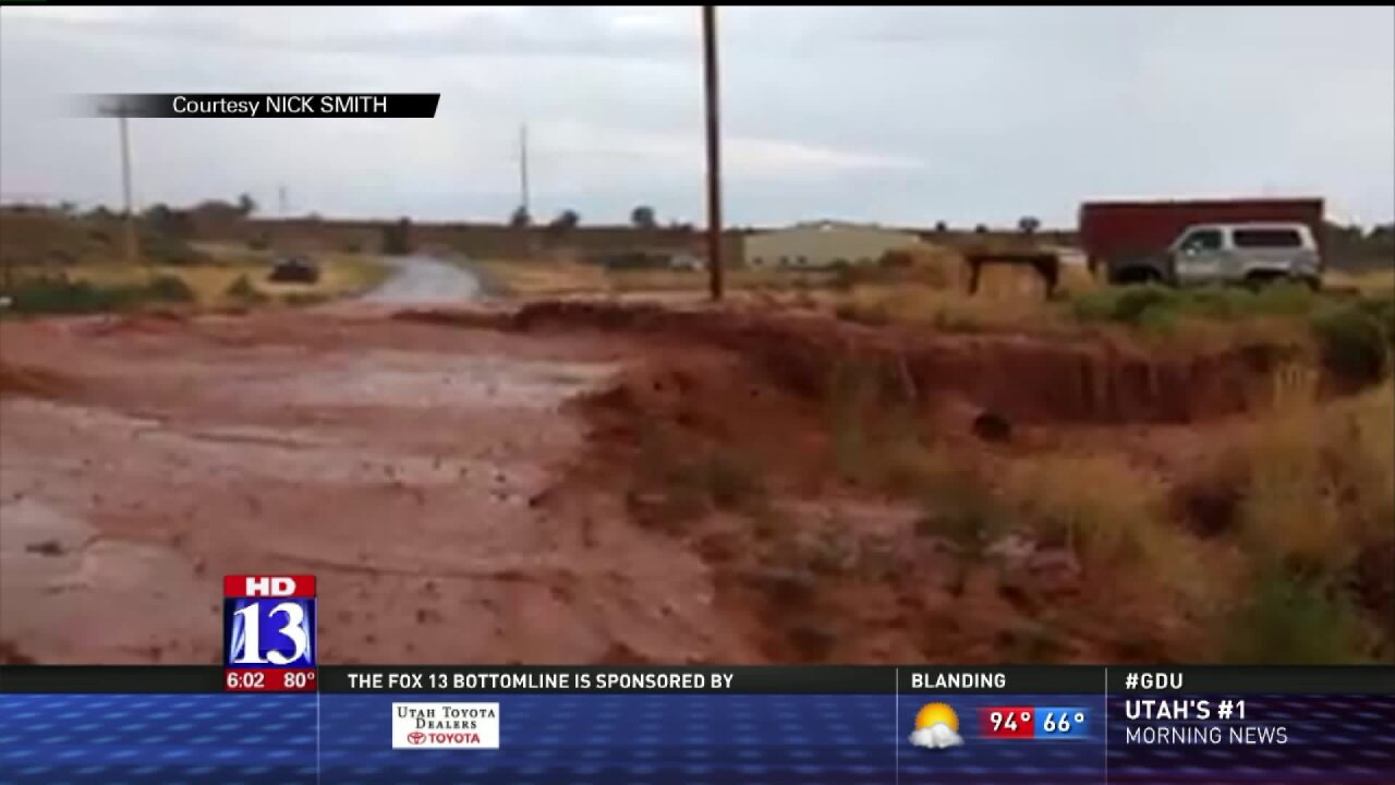 Kanab cleans up after thunderstorms bring flashflooding