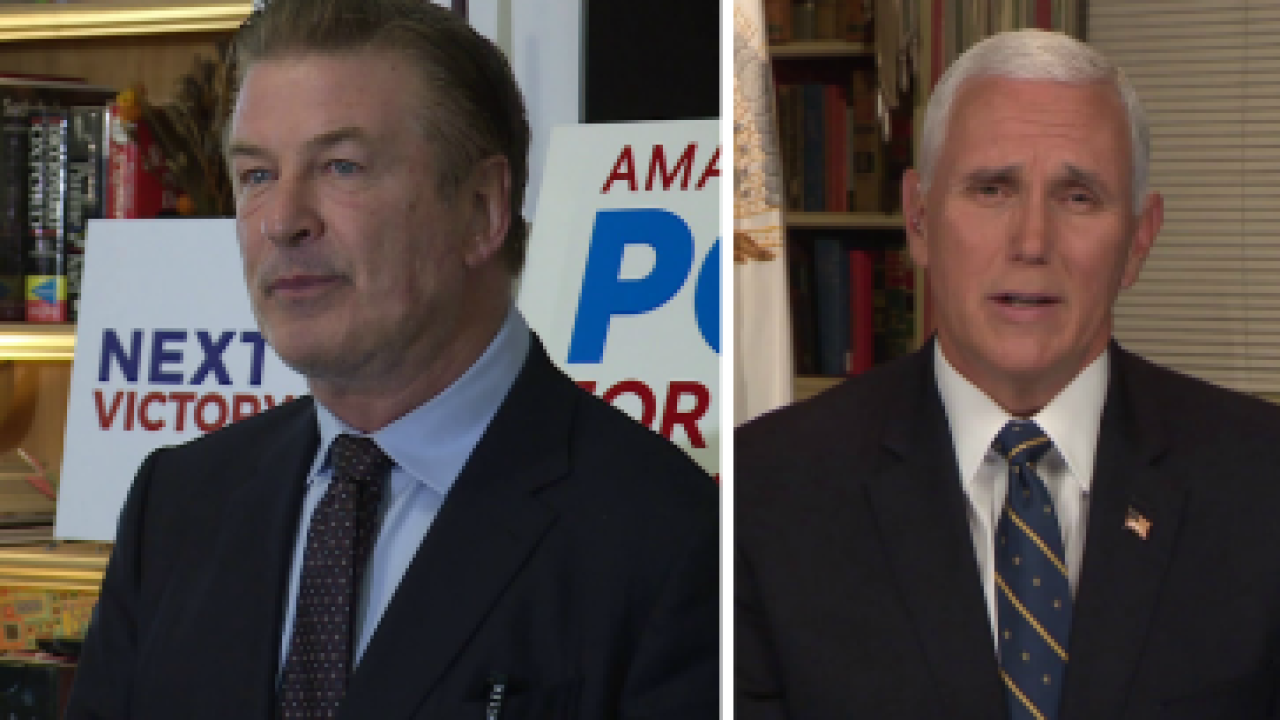 Alec Baldwin hit Virginia streets for Democrats; Pence weighs in on Commonwealthelections