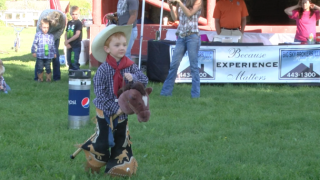 Cowboys and cowgirls-in-training compete in Stick Horse Rodeo