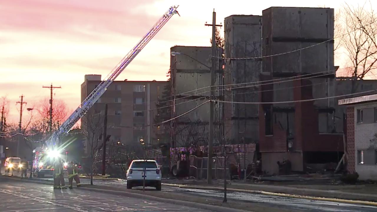 Massive fire destroys Rocky River condo under construction.