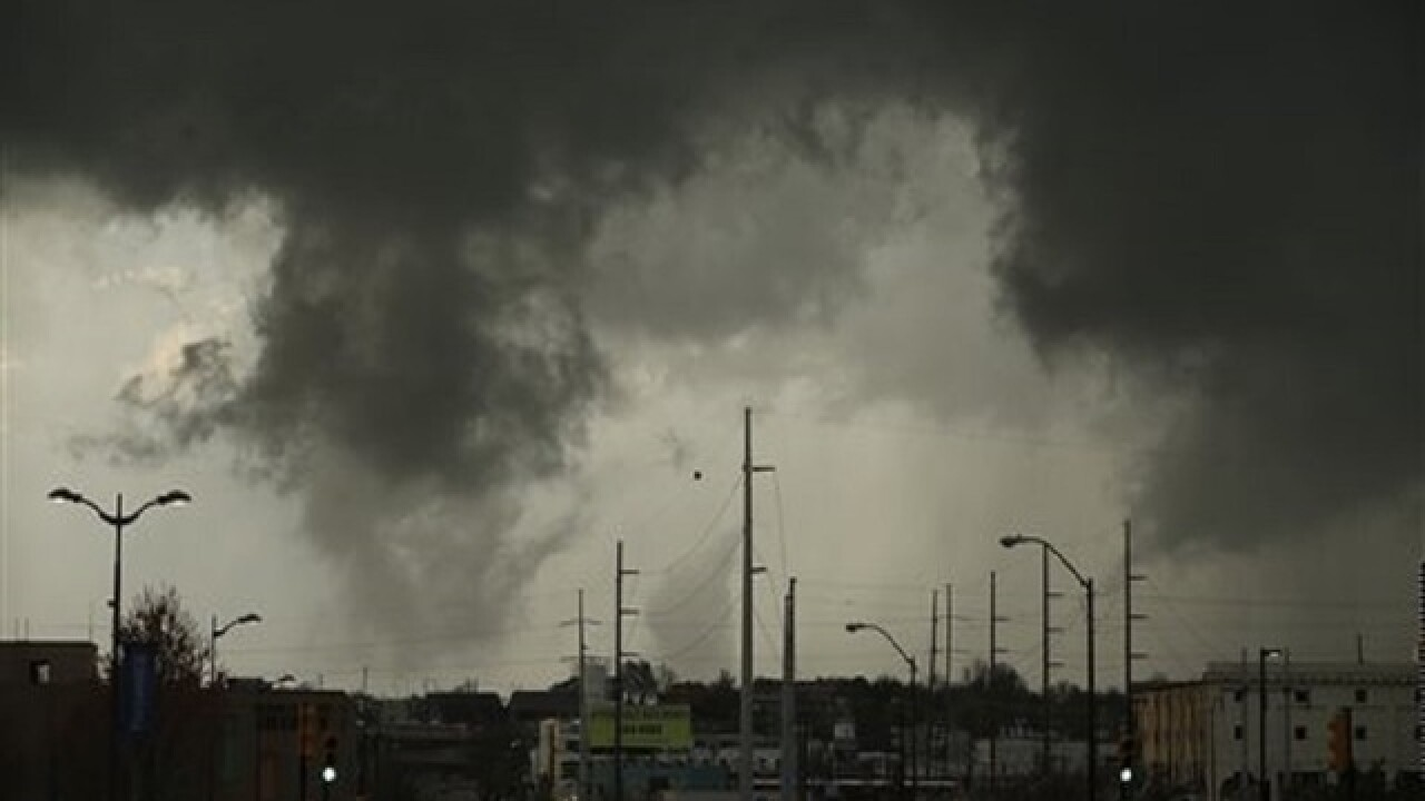 7 hurt, damage reported after tornadoes in Okla.