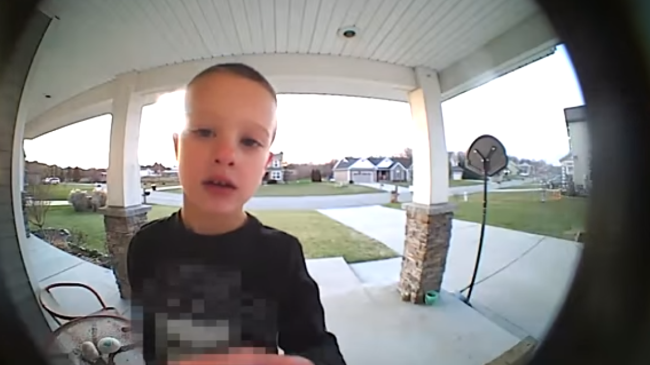 Watch: Young boy uses security camera to get dad's help in hilarious video