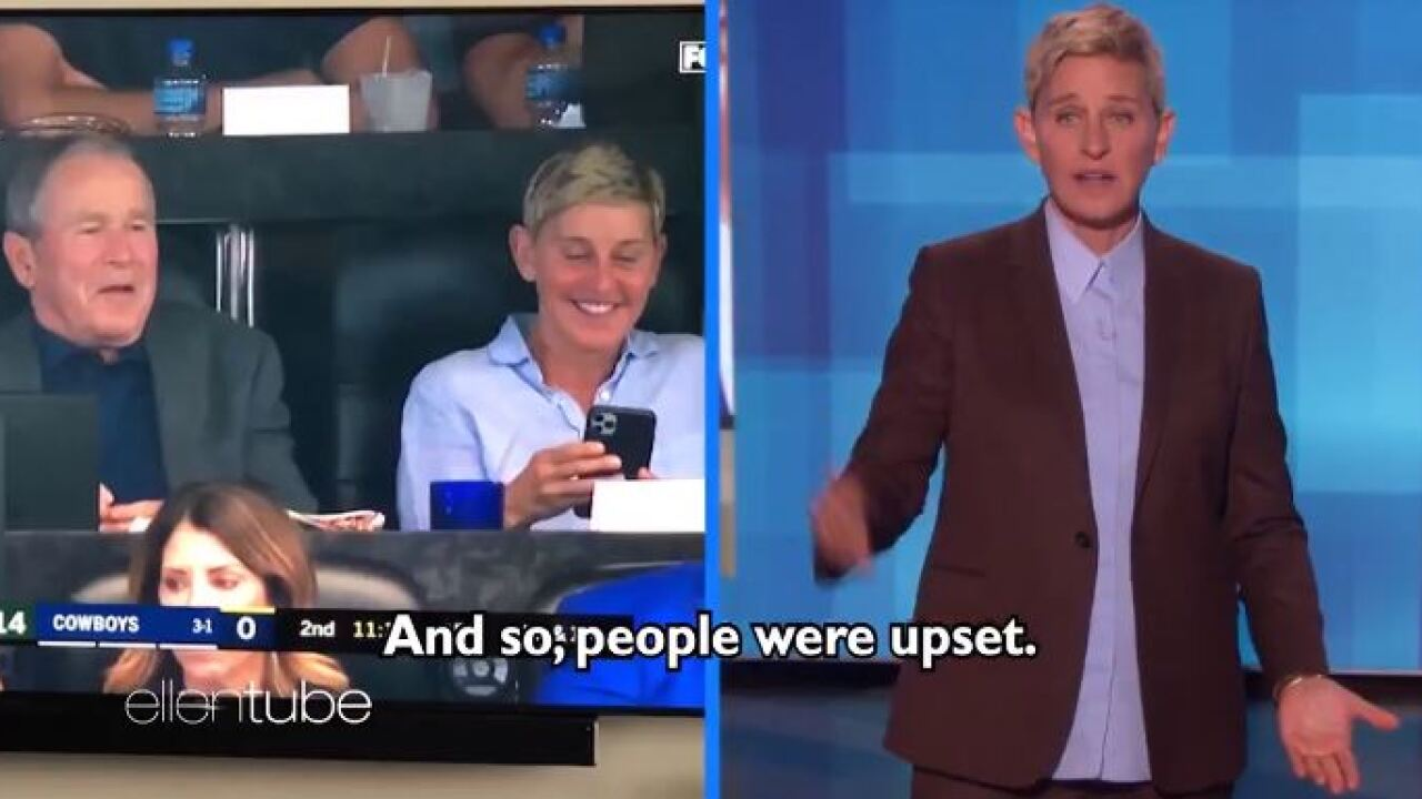 Ellen DeGeneres explains hanging out with George W. Bush: 'People were upset… but'
