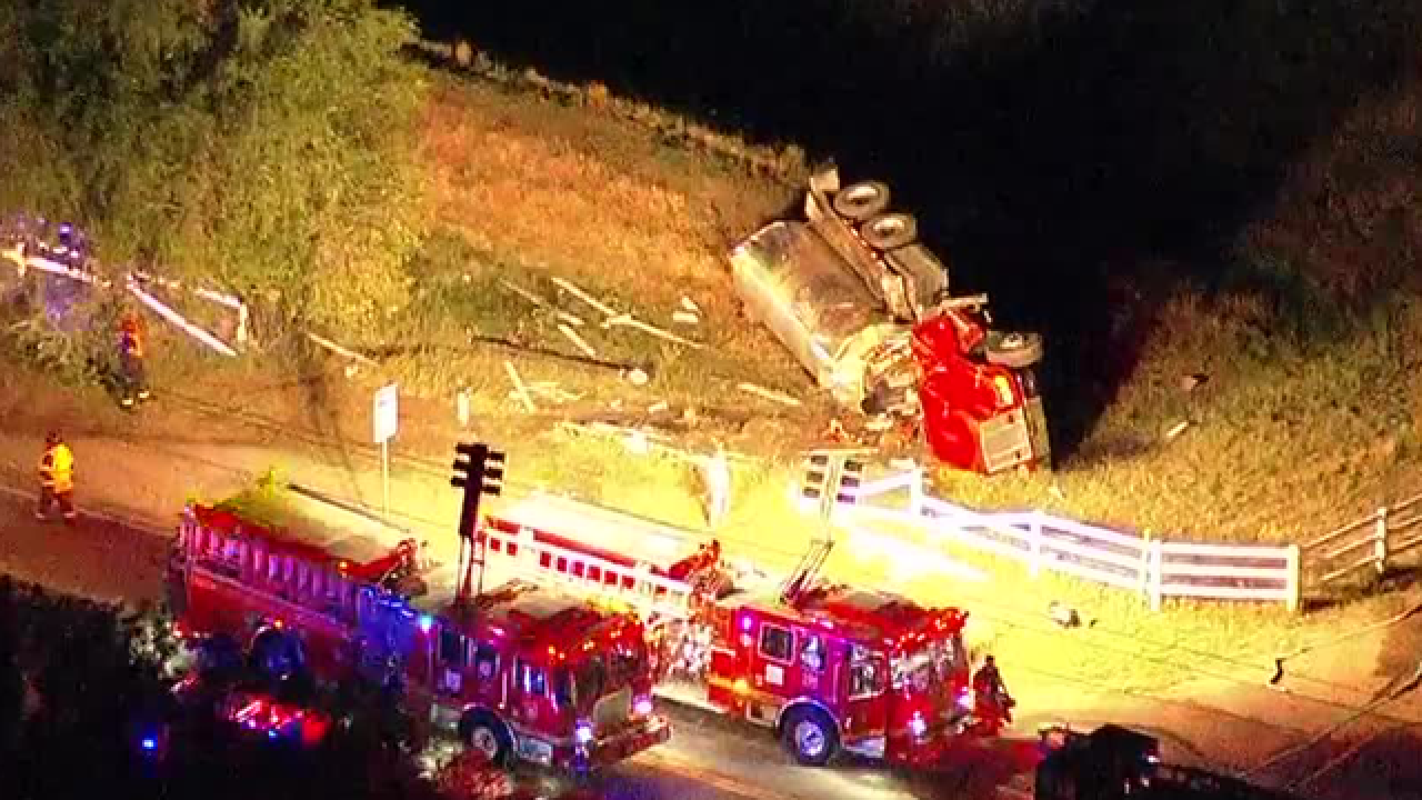 2 Franktown firefighters injured in rollover